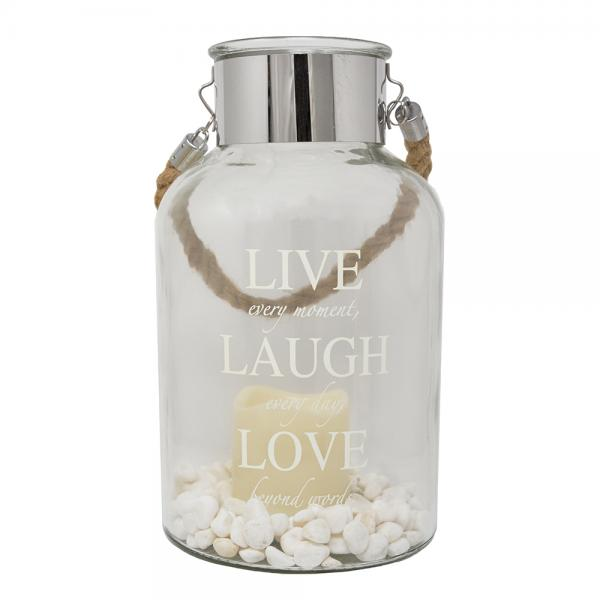 Live Laugh Love Canister
