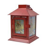 Wintertime Sleigh Cardinals Lantern-MFLN6WWST