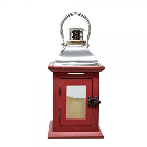 Red 11 inch LED Lantern