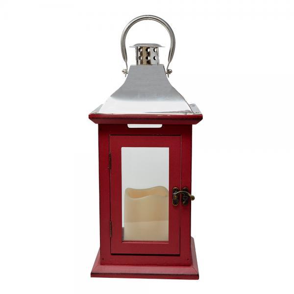 Red 13 inch LED Lantern