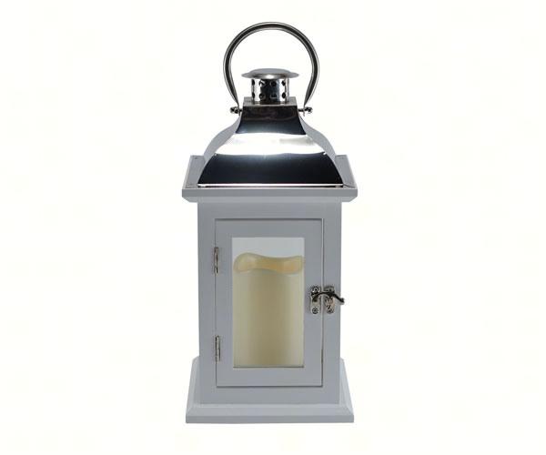 White 13 inch LED Lantern
