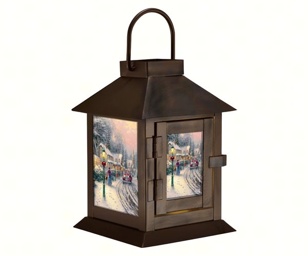 Thomas Kinkade Village Christmas Lantern