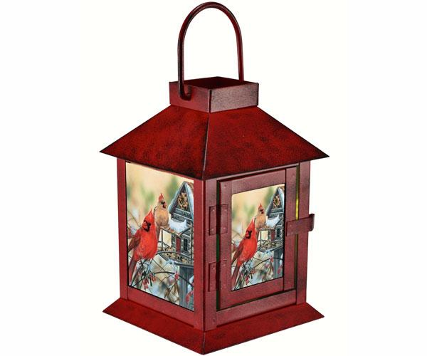 Rustic Cardinals Lantern