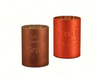 Fall Laser Etched 4 inch LED Gift Candle MFMLEP2HA