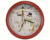 Let it Snow 8 inch Sound Clock-MFPL8LIS