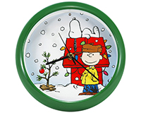 Peanuts Holiday Dog House 8 inch Clock-MFPNXD8