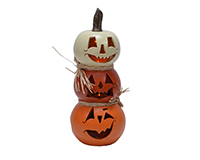 Resin LED 9 inch Stacked Pumpkin MFS1915D9
