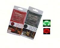 Holiday Red/Green LED String Lights MFSLX12D