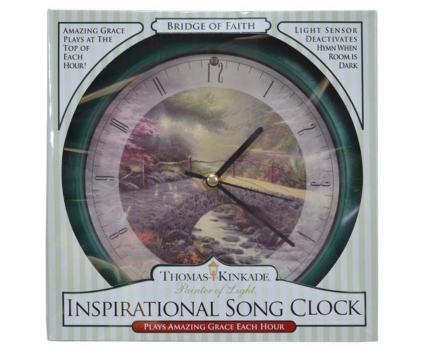 Bridge of Faith Kinkade 8 inch Clock