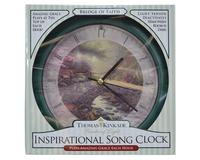 Bridge of Faith Kinkade 8 inch Clock-MFTKBOF