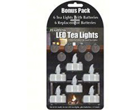 LED Tea Lights 6 Pack withReplacement Batteries-MFTL1036RB