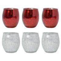 Crackled Mercury Glass Votive Sets-MFTLV3RSMA