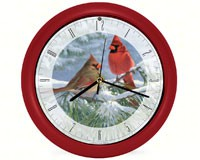 Winter Light Cardinal 8 Clock-MFWW8MHWL