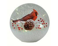 Crackle Glass Globe 7 IN Cardinal  MFYB599CD