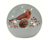 Crackle Glass Globe 6 IN Cardinal Small MFYB600CD