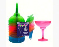 2 pc 12 oz Margarita Glasses Assorted Neon 12 ct-NWEN121290