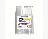 1.25 oz Shot Glasses & Lids. Clear 25 ct-NWEN12525
