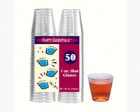 1 oz Shot Glasses Clear 50 ct-NWEN15021