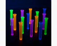 1.5 oz Tube Shots Assorted Neon 15 ct Boxes-NWEN1515