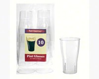 16 oz Pint Glasses Clear 10 ct-NWEN161021