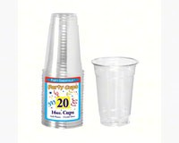 16 oz Soft Plastic Cups Clear 20 ct-NWEN162520