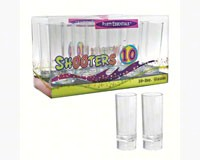 2 oz Shooter Glasses Clear 10 ct boxes-NWEN210