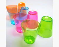 2 oz Shot Glasses. Assorted Neon, 40 ct-NWEN24090