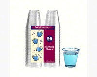 2 oz Shot Glasses Clear 50 ct-NWEN25021