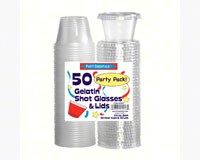 2.5 oz Shot Glasses & Lids Clear 50 ct-NWEN2550