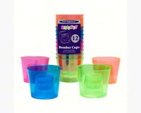 4 oz Bomber Cups Assorted Neon Soft Plastic 12 ct-NWEN490
