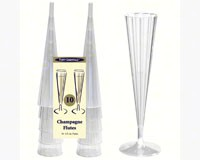 2 pc 5 oz Elegance.Delux Champ. Flutes. Clear 10 ct-NWEN51021