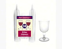 2 pc 5.5 oz Wine Glasses. Clear 50 ct-NWEN55021