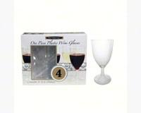 1 pc 8 oz Wine Glasses Box Set Clear 4 ct-NWEN8124