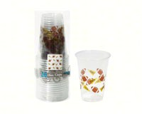 16 oz Soft Plastic Cups Football Theme-NWESD162010