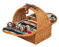 Athertyn Plaid Lining 2 Person Picnic Basket-OAKPSB266