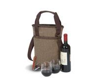 Omega Single Bottle Bag - Brown-OAKPSM217BR