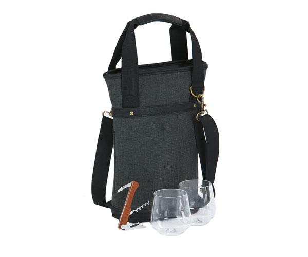 Omega Single Bottle Bag - Grey