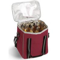 Vineyard 6 Bottle Cooler - Burgundy-OAKPSM246BG