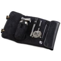 Cocktail Bar Tool Roll Up- Black-OAKPSM411BL