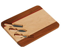 Fusion Cutting Board with Maple, Red Rosewood, and Ash Woods-OAKPSM555