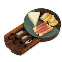 Winslow Marble Cheese Tray -Green-OAKPSM559GR