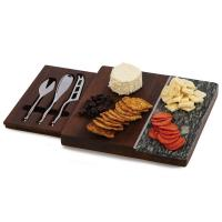 Piazza Marble Cheese Board -Grey-OAKPSM563GR