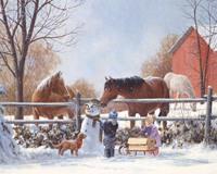 Snowman Horses 400 Piece Puzzle-OM54566