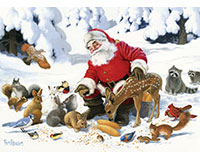 Santa Claus and Friends Family Pieces 350 pc puzzle-OM54605
