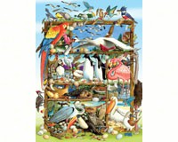 Birds of the World Family 300 piece Puzzle-OM54639