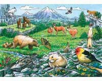 Rocky Mountain Wildlife Tray Puzzle 35 piece Puzzle-OM58806