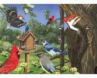 Around the bird feeder Tray Puzzle 35 piece Puzzle-OM58848
