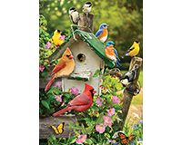 Singing Around the Bird House 35 pc Tray Puzzle-OM58876