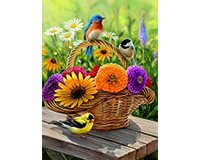 Bluebird & Bouquet 35 pc Tray Puzzle-OM58886