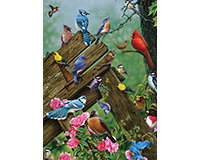 Wildbird Gathering 35 pc Tray Puzzle-OM58889